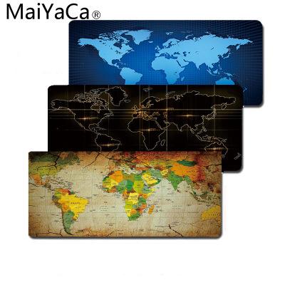 MaiYaCa Thảm lót chuột Bản đồ thương mại nước ngoài MaiYaCa hình chữ nhật lớn khóa chuột Châu Âu và