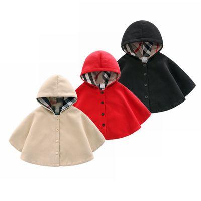Áo choàng trẻ em  Mùa xuân và mùa thu quần áo trẻ sơ sinh len áo choàng gió nam và nữ em bé áo choàn