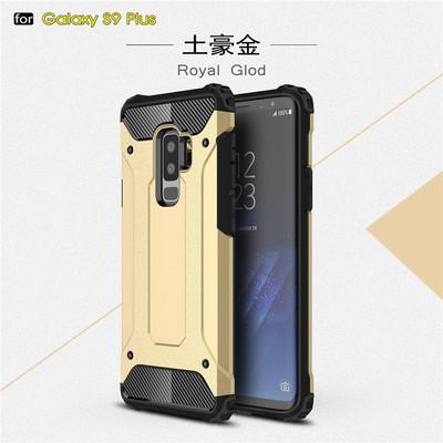 RICOONLINE bao da điện thoại Áp dụng cho Samsung S9 plus vỏ giáp kim cương hai trong một J6 plus với
