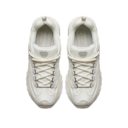 Skechers  giày bánh mì / giày Platform Skechers Skeich Yang Zi với cùng một đoạn da lộn khâu giày gấ