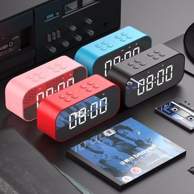 AEC Loa Bluetooth BT501 Loa Bluetooth LED Đồng hồ báo thức Không dây Gương nhỏ với Bộ sưu tập đồng h