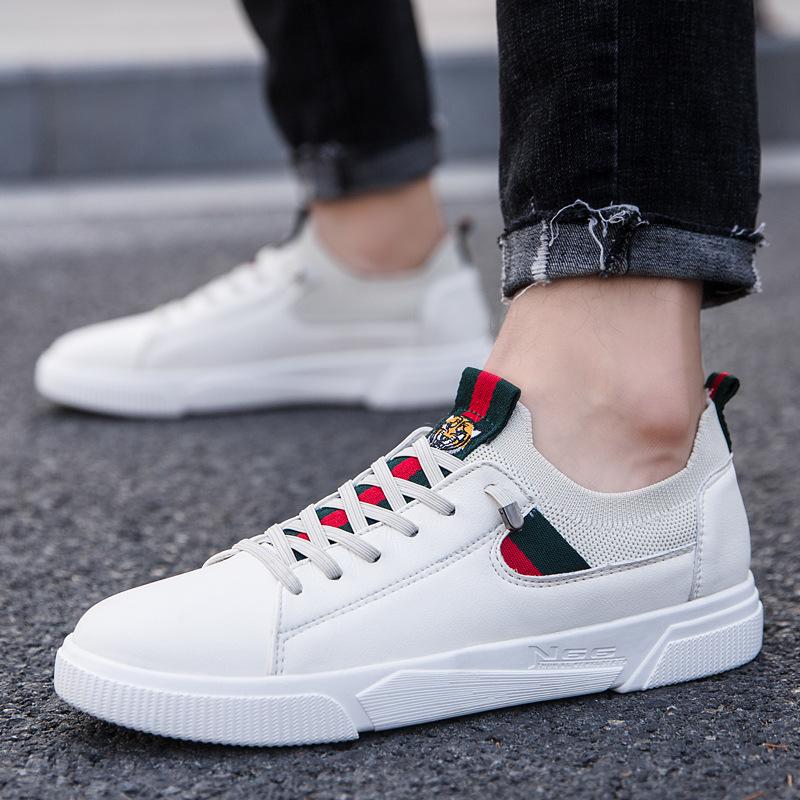 Giày lười / giày mọi đế cao Giày xuân hè 2019 bùng nổ giày trắng nam giày thể thao Hàn Quốc hoang dã