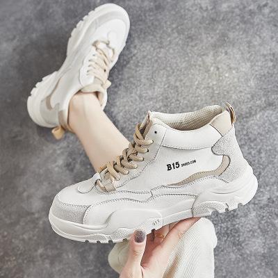Giày Sneaker / Giày trượt ván Giày mùa thu 2019 mới, giày cao gót nữ đế dày đế giày nhỏ màu trắng Gi