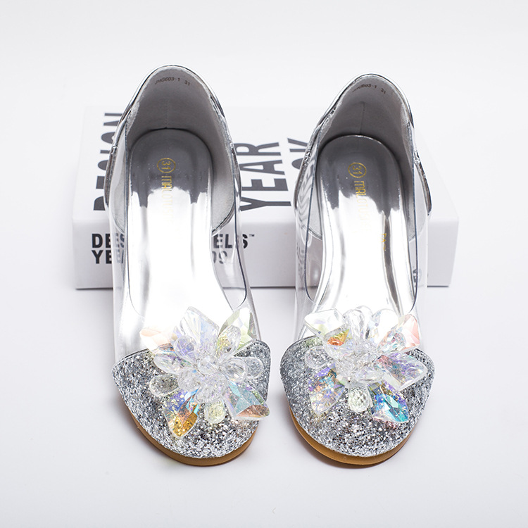 MRLOTUSNEE Giày trẻ em Hot Cô bé lọ lem pha lê Giày nhỏ cho trẻ em Trung Quốc xuất khẩu đôi giày của