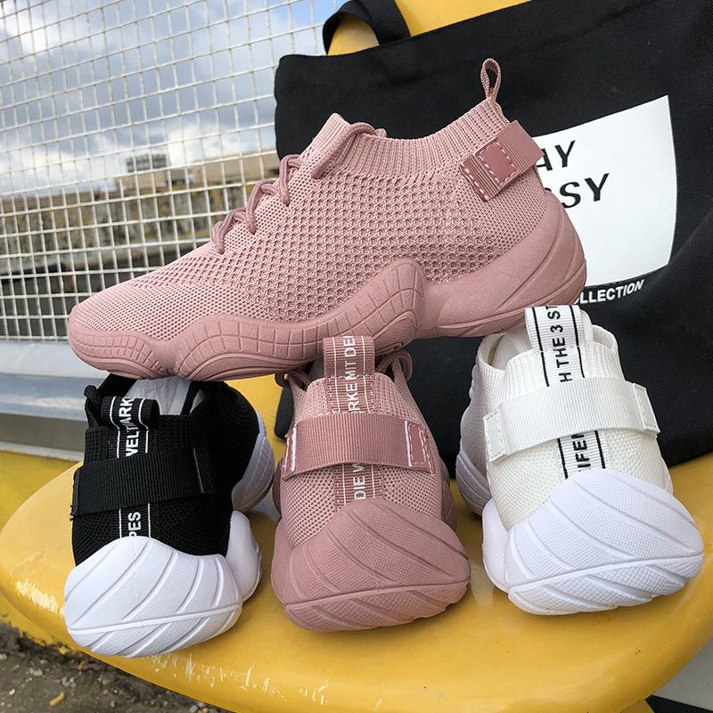 DIMAN Giày lưới Túi giúp tóc Mùa hè lưới thoáng khí Giày dệt thoi nữ phiên bản Hàn Quốc của giày thể