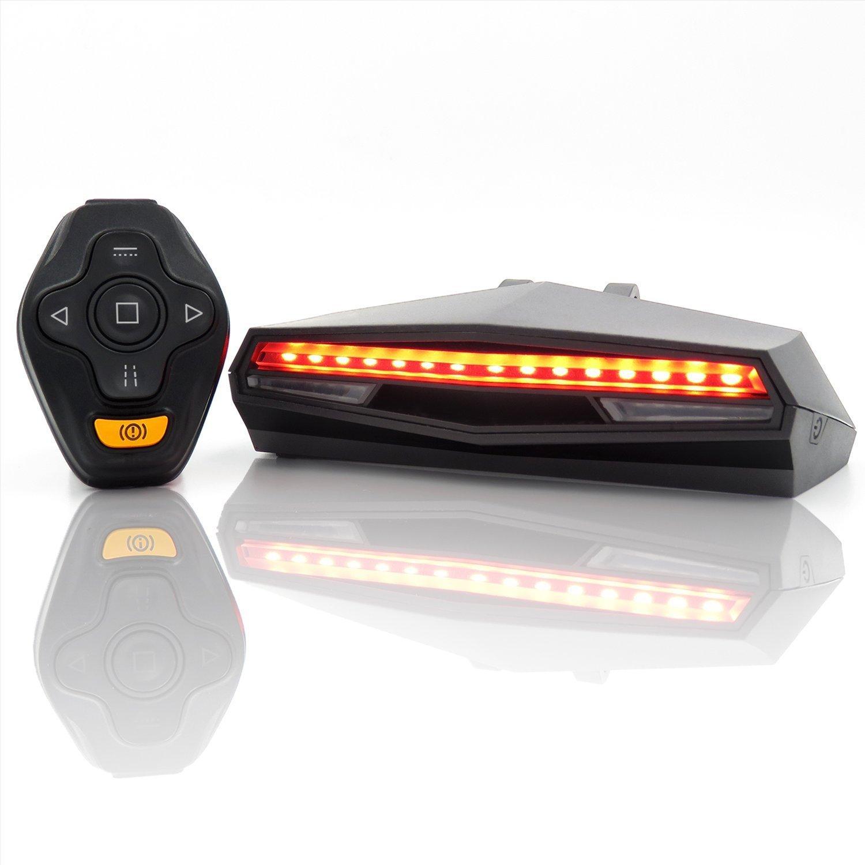 Đèn hậu laser X5 Điều khiển từ xa thông minh cho Xe đạp leo núi