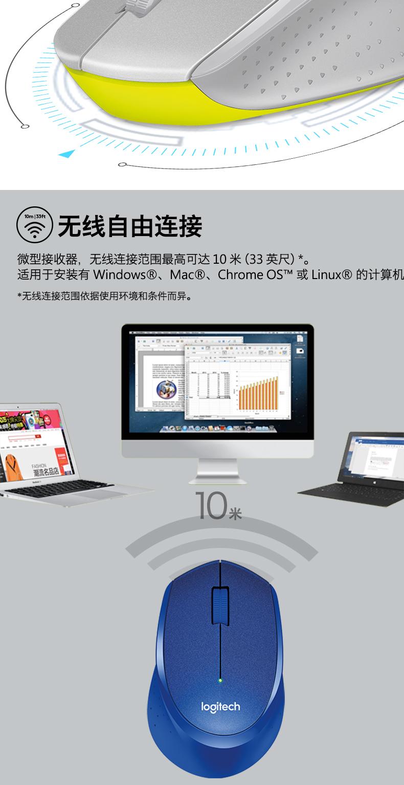 Chuột vi tính Công cụ logic m330 câm không dây thừng của văn phòng con chuột laptop m 27 5m280