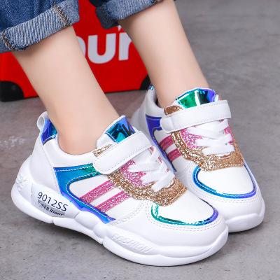 Giày lưới Giày lưới trẻ em nữ giày thể thao 2019 mùa thu mới thoáng khí giày lưới trẻ em xu hướng ch