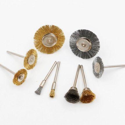 DONGCHENG Dây kim loại  Đầu mài dây thép 22mm Dây thép kim loại bàn chải làm sạch Bàn chải công nghi