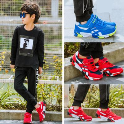 Giày FuJian Giày đế mềm mới cho trẻ em Velcro Giày thời trang trẻ em Hàn Quốc Giày bé trai thoáng kh