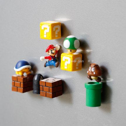EMO Sắt từ Không có một nửa sản phẩm đặc biệt mới Super Mario Tủ lạnh Sticker Sáng tạo Nam châm 3D s