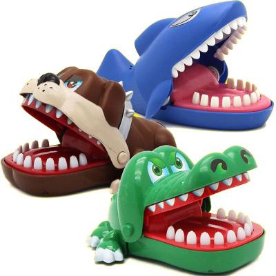 COOL FAMILY Đồ chơi khăm Cá sấu lớn cắn ngón tay cá mập kéo răng giải nén giải nén tạo ra toàn bộ âm