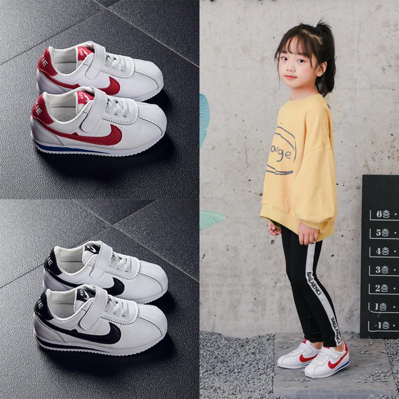 TONGBUNENG Giày trẻ em Hot Giày trẻ em mùa thu đông 2019 Giày thể thao trẻ em mới cộng với quần nhun