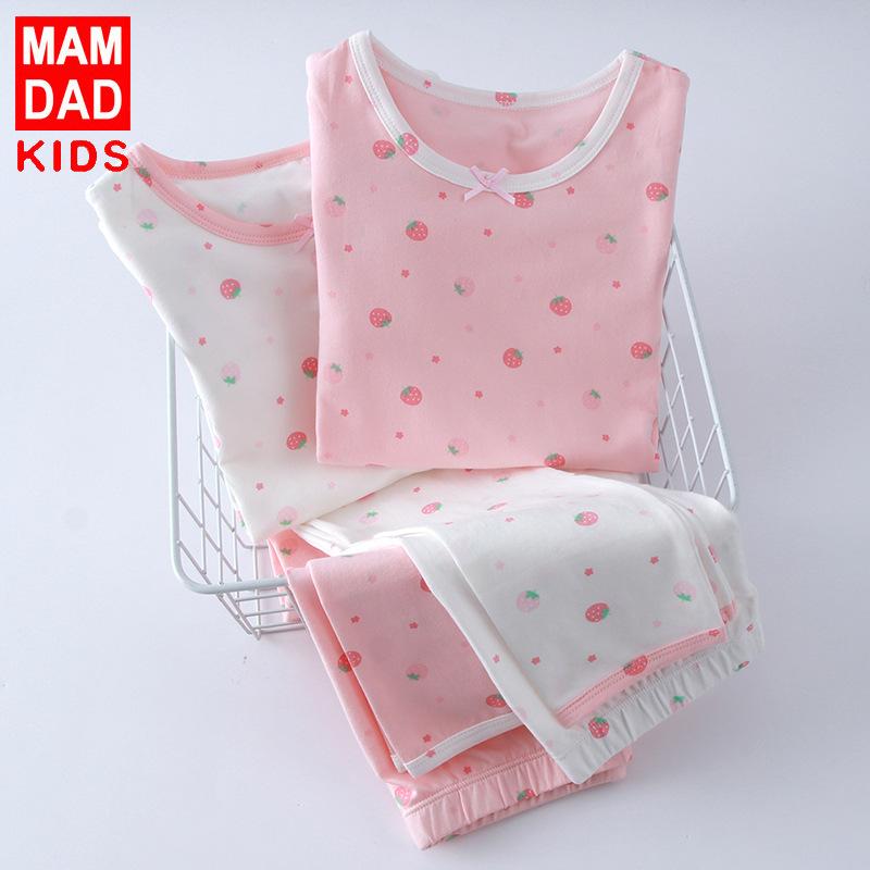 BAMAQIN Đồ ngủ trẻ em Túi kẹp tóc Mùa xuân và mùa thu đồ lót trẻ em mới cho bé quần áo mùa thu quần