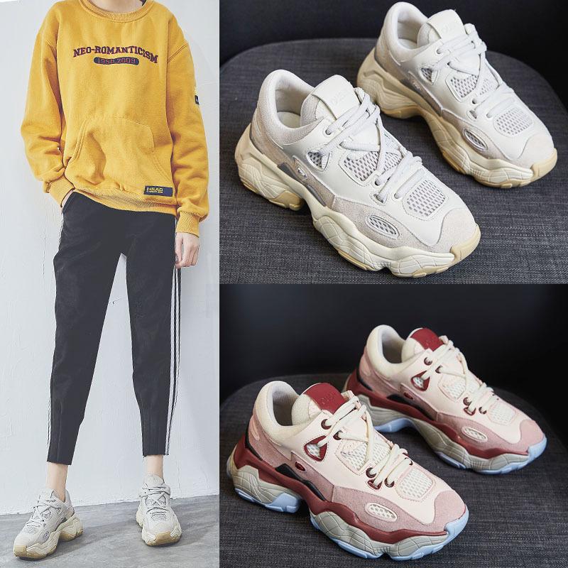 Giày tăng chiều cao Giày xuân hè 2019 và giày nữ mới tăng giày thể thao thông thường Giày nữ siêu ch