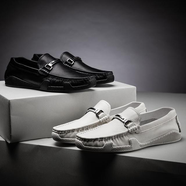 Giày mọi đế thấp Túi tóc giúp giày da nam đậu Hà Lan Trạm thời trang bình thường kinh doanh giày mùa
