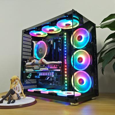 COOLMOON Thùng CPU Robin II Khung kính cường lực toàn diện Máy tính để bàn loại máy tính để bàn trò