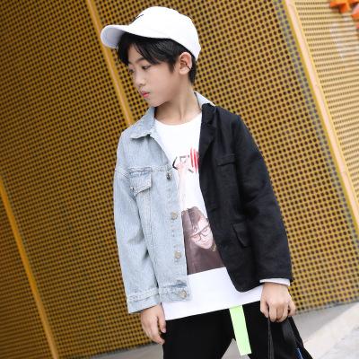 HOHTOT Trang phục Jean trẻ em Áo khoác bé trai denim 2019 Quần áo trẻ em thương hiệu thủy triều mới