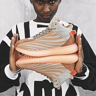 Giày FuJian Giày nam 2019 mùa thu và mùa đông Giày dừa mới nam cộng với giày bóng rổ cotton cao Giày