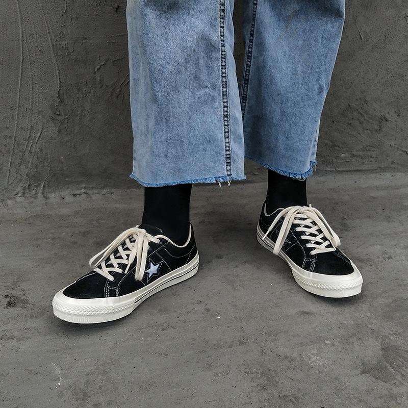Giày Sneaker / Giày trượt ván Túi tóc EVENSTAR giày vải nam và nữ đôi giày giả nhung sinh viên Hồng