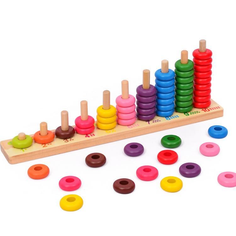 MUBEI Đồ chơi Giáo dục mầm non dạy trẻ đồ chơi bằng gỗ
