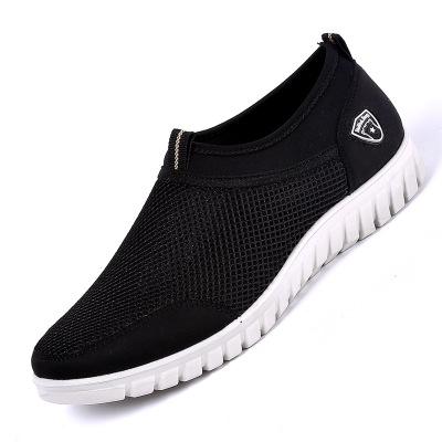 Giày lưới Mùa hè giày Bắc Kinh cũ giày nam nhẹ mềm mang giày thoải mái lưới giày nam giản dị giày lư