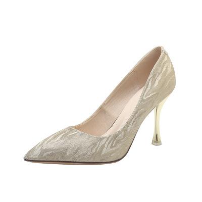 Giày GuangDong 1969-9-7979-5101 giày cao gót đính sequin 2018 giày cao gót thời trang mới gợi cảm