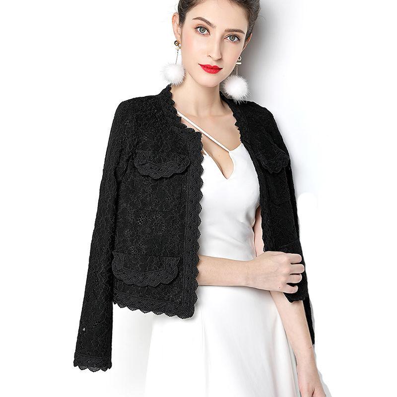 YUNKAIXIU áo khoác Người nổi tiếng Xiaoxiangfeng áo khoác nữ mùa xuân và mùa thu của phụ nữ mới khí