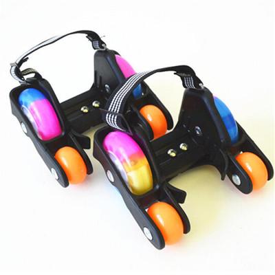Xe một bánh tự cân bằng Công cụ trượt bánh xe PU tăng cường bốn bánh giày trượt băng Heelys trẻ em đ