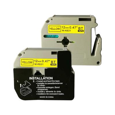 BEIYITAI Ruy băng Nhà máy ứng dụng trực tiếp anh em máy ruy băng M-K231 ruy băng 12MM trắng đen từ v