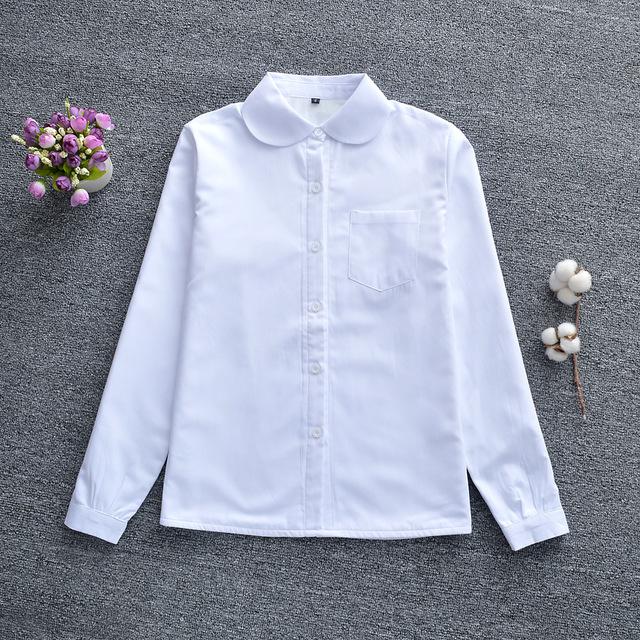 Thời trang nữ Học sinh chính thống Nhật Bản mới Maru Yu mẫu giáo cổ tròn jk áo dài tay dày
