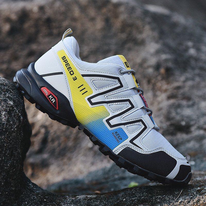 DESHENGXING Giày đi bộ Giày chạy bộ việt dã ngoài trời cổ điển SPEEDC ROSS 3 đôi giày đi bộ đường dà