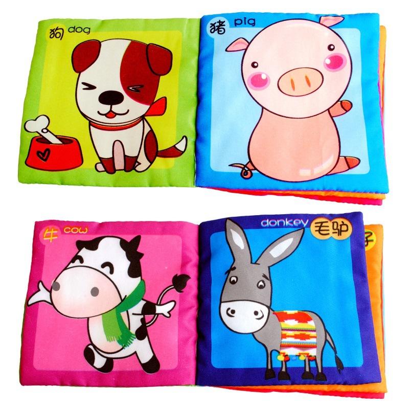 Bộ đồ chơi sách vải giảng dạy cho trẻ .