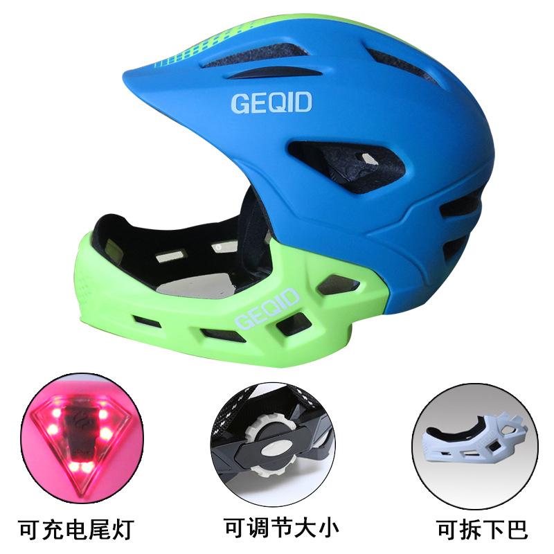 GEQID Mũ bảo hiểm xe đạp trẻ em cân bằng mũ bảo hiểm đầy đủ mặt mũ bảo hiểm cưỡi trượt mũ bảo hiểm t