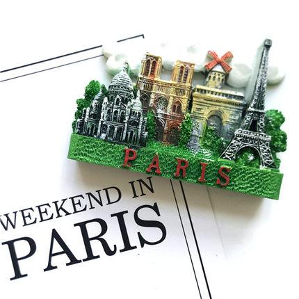 EMO Sắt từ Nam châm tủ lạnh nam châm Paris Magnet du lịch lưu niệm Arc de Triomphe Notre Dame Nice B