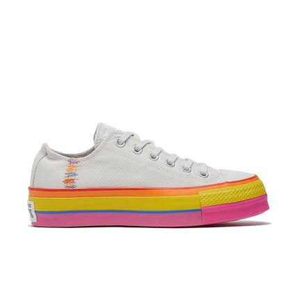CONVERSE Giày nữ trào lưu Hot CONVERSE Official All Star Rainbow Giày thời trang đế thấp 564992C