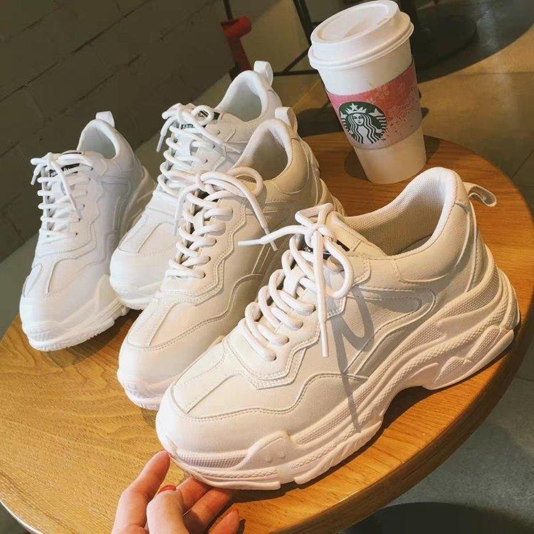 Halinfer Giày trắng nữ Giày trắng nhỏ nữ 2019 mùa thu mới lưới đỏ phiên bản Hàn Quốc của đôi giày tr