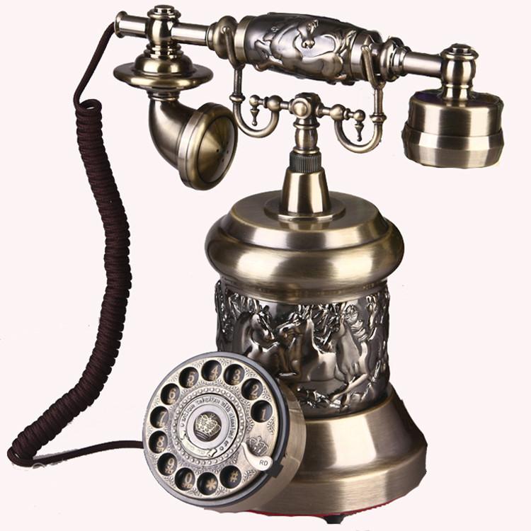 ZHIZHEN Điện thoại bàn cổ điển thời trang châu Âu