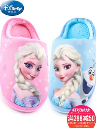 Disney dép trẻ em Disney trẻ em dép bông cô gái mùa đông em bé dễ thương trong nhà trẻ em phim hoạt