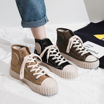 Giày Sneaker / Giày trượt ván Muir 2019 gió Hồng Kông cộng với giày cotton bảng đường phố chụp mùa t