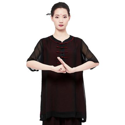 THỂ THAO SHANREN  Sợi gai  Shanren thể thao phong cách mới vần điệu Tai Chi quần áo nữ voan võ thuật