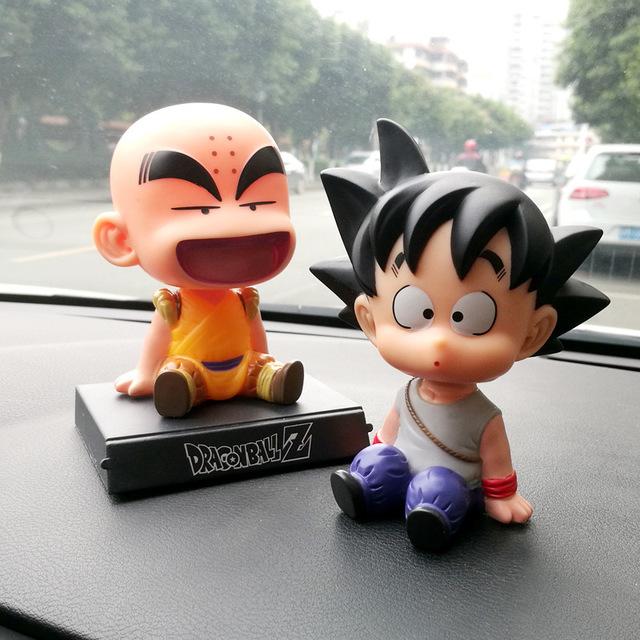 Đồ dùng ô tô Dragon Ball lắc đầu búp bê trang trí xe ô tô Trang sức nội thất sáng tạo Phim hoạt hình