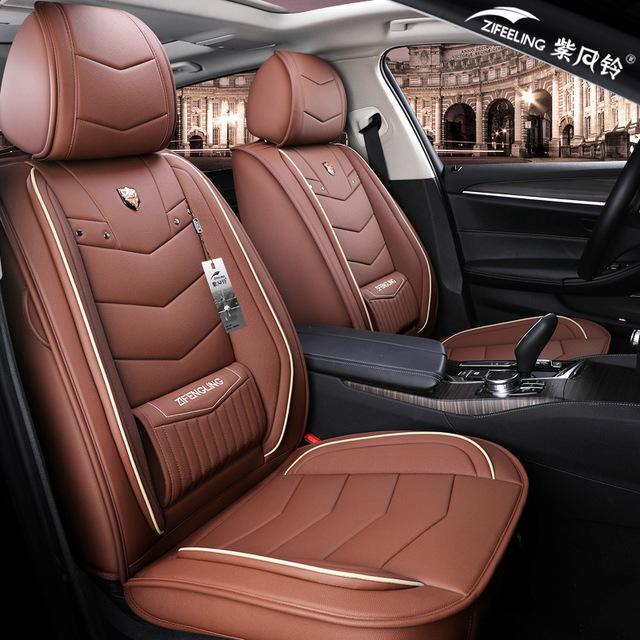 Drap bọc ghế xe hơi Túi trợ giúp Bốn mùa Universal Leather Leather Seat Seat Cover Cover Bao phủ đầy