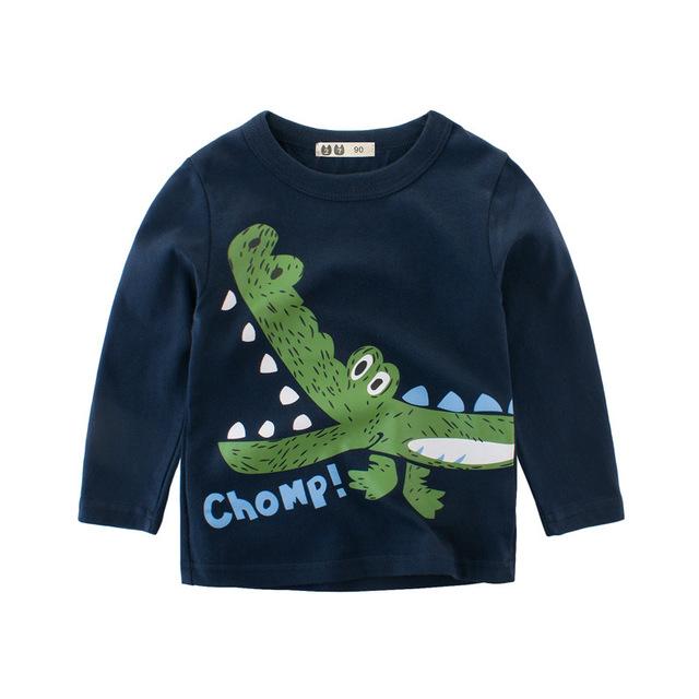 27KIDS áo thun Túi tóc giúp mùa xuân 2019 quần áo trẻ em sản phẩm mới trẻ em áo phông cotton hoạt hì