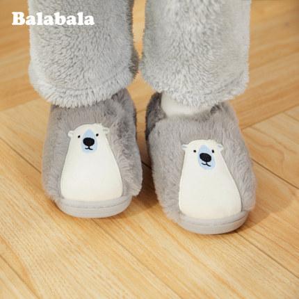 BALABALA dép trẻ em Dép cotton trẻ em Balabala cho bé trai chống trơn túi mềm với giày mùa đông 2019