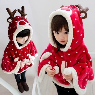 khác Áo choàng trẻ em  Áo choàng trẻ em mùa thu và áo choàng mùa đông cộng với nhung dày phiên bản H