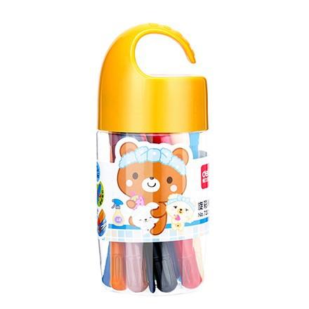 DELI Đồ mỹ nghệ Sơn dầu hiệu quả 12 màu trẻ em vẽ bút chì màu nghệ thuật sinh viên cọ nước hòa tan đ