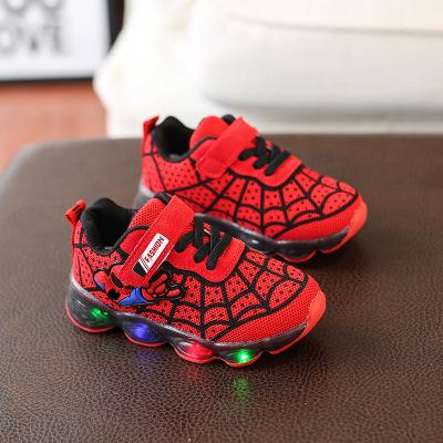 Giày lưới Mùa thu trẻ em dệt kim ánh sáng giày thể thao bé trai thoáng khí giày chạy bộ phụ nữ hoạt