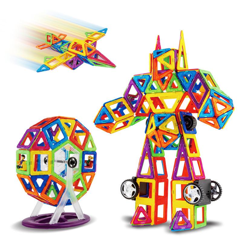 MOCAI - Bộ đồ chơi mảnh từ tính vòng lắp ráp thành nhiều hình.