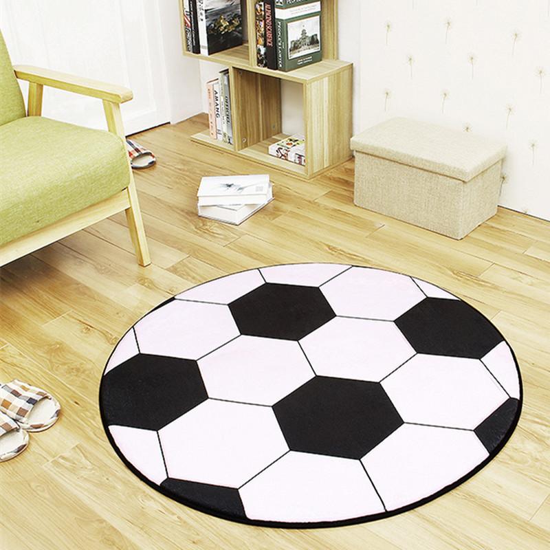 Thảm Lót trải sàn hình tròn dễ thương .